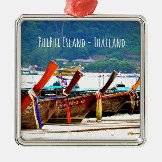 Ornamento De Metal Edição do cartão de Phiphiisland