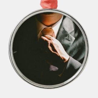 Ornamento De Metal Efeito de sombra do laço do homem de negócios do
