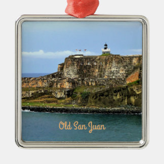 Ornamento De Metal EL Morro que guarda o costume da baía de San Juan