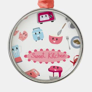 Ornamento De Metal Eletricidade cor-de-rosa doce da cozinha e ícone