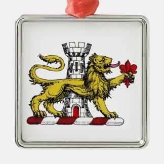 Ornamento De Metal Emblema C da crista da flor de lis da torre do