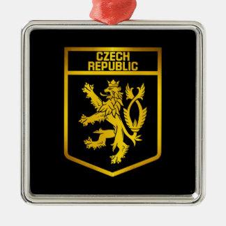 Ornamento De Metal Emblema da república checa