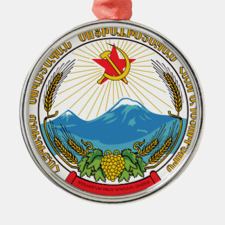 Ornamento De Metal Emblema da república socialista soviética arménia