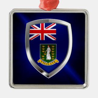 Ornamento De Metal Emblema de British Virgin Islands Mettalic