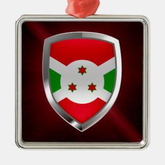 Ornamento De Metal Emblema de Burundi Mettalic