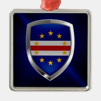 Ornamento De Metal Emblema de Cabo Verde Mettalic