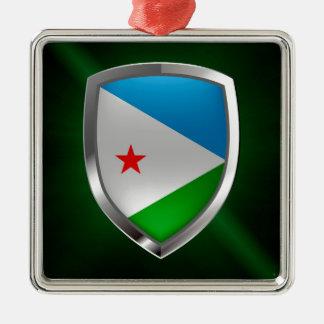 Ornamento De Metal Emblema de Djibouti Mettalic