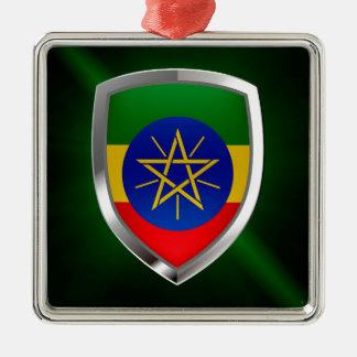 Ornamento De Metal Emblema de Etiópia Mettalic
