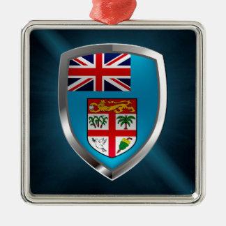 Ornamento De Metal Emblema de Fiji Mettalic