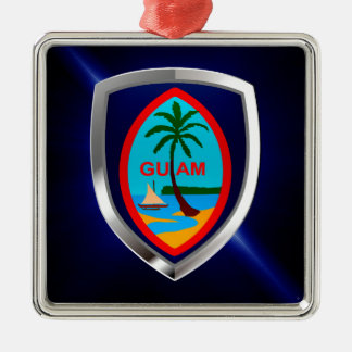 Ornamento De Metal Emblema de Guam Mettalic