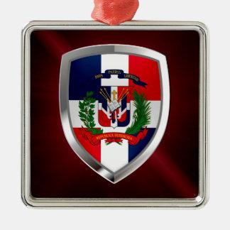 Ornamento De Metal Emblema de Mettalic da República Dominicana