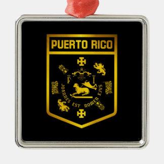 Ornamento De Metal Emblema de Puerto Rico