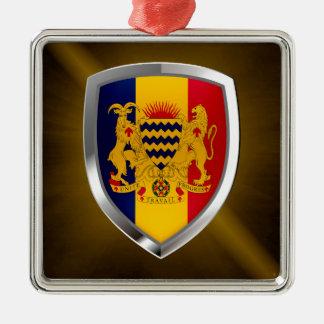 Ornamento De Metal Emblema de República do Tchad Mettalic
