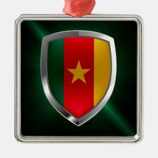 Ornamento De Metal Emblema de República dos Camarões Mettalic