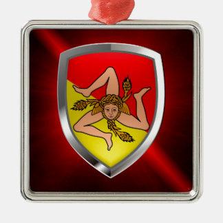 Ornamento De Metal Emblema de Sicilia Mettalic