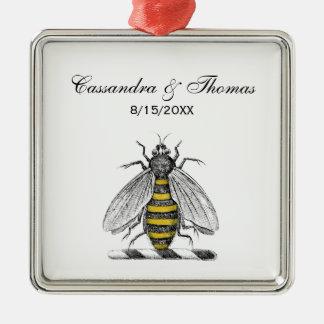 Ornamento De Metal Emblema heráldico formal C da brasão da abelha do