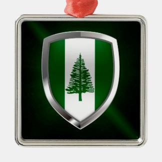 Ornamento De Metal Emblema metálico da ilha Norfolk