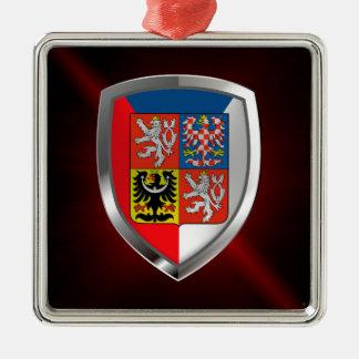 Ornamento De Metal Emblema metálico da república checa