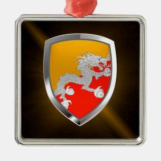 Ornamento De Metal Emblema metálico de Bhutan