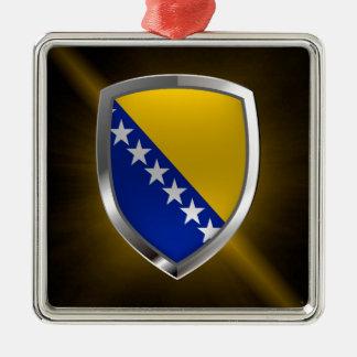 Ornamento De Metal Emblema metálico de Bósnia e de Herzegovina