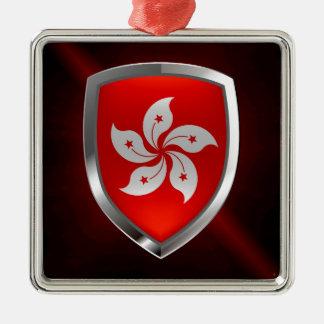 Ornamento De Metal Emblema metálico de Hong Kong