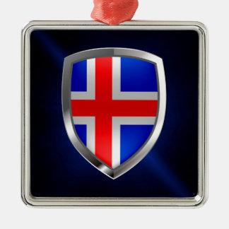 Ornamento De Metal Emblema metálico de Islândia