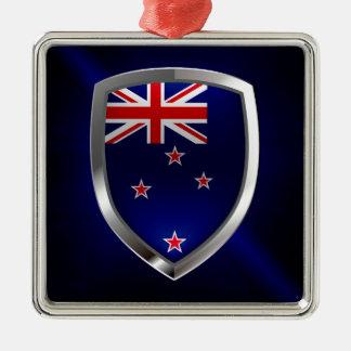 Ornamento De Metal Emblema metálico de Nova Zelândia