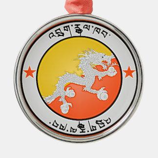 Ornamento De Metal Emblema redondo de Bhutan