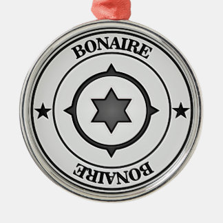 Ornamento De Metal Emblema redondo de Bonaire