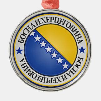 Ornamento De Metal Emblema redondo de Bósnia e de Herzegovina