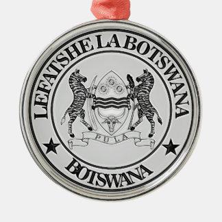 Ornamento De Metal Emblema redondo de Botswana