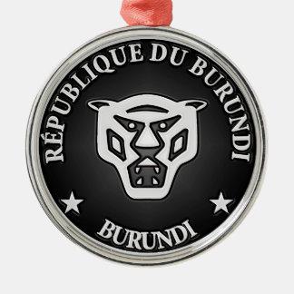 Ornamento De Metal Emblema redondo de Burundi