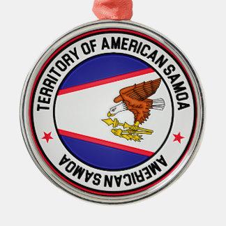 Ornamento De Metal Emblema redondo de Samoa Americanas