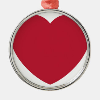 Ornamento De Metal Emoji Heart Love