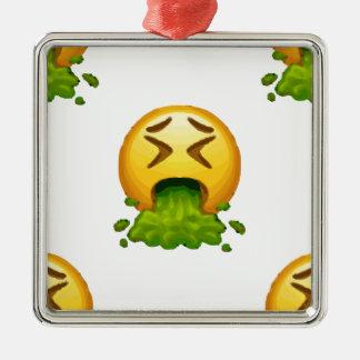 Ornamento De Metal emoji que puking