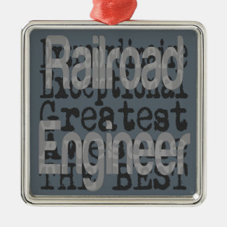Ornamento De Metal Engenheiro de estrada de ferro Extraordinaire