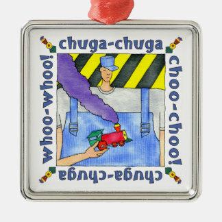 Ornamento De Metal Engenheiro do trem de Choo Choo
