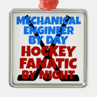 Ornamento De Metal Engenheiro mecânico do amante do hóquei