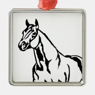 Ornamento De Metal Equestrian de um quarto americano do cavalo da