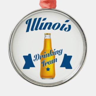 Ornamento De Metal Equipe do bebendo de Illinois