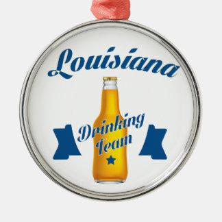 Ornamento De Metal Equipe do bebendo de Louisiana