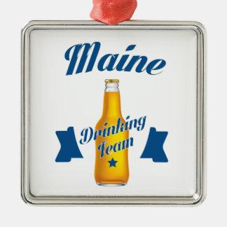 Ornamento De Metal Equipe do bebendo de Maine