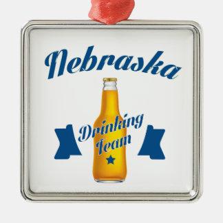 Ornamento De Metal Equipe do bebendo de Nebraska