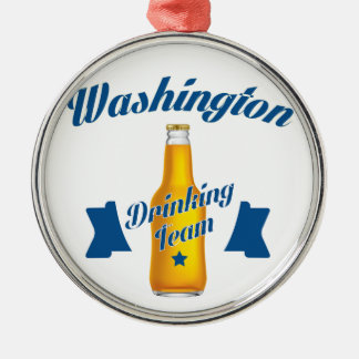 Ornamento De Metal Equipe do bebendo de West Virginia