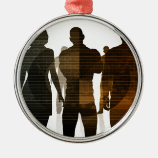 Ornamento De Metal Equipe do negócio dos profissionais que estão para