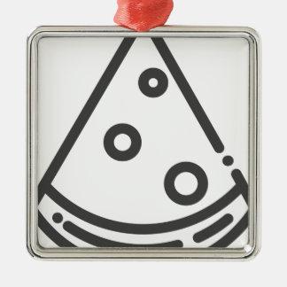 Ornamento De Metal Esboço da pizza