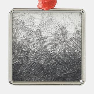 Ornamento De Metal Esboço do lápis. Cursos da hachura. #002a