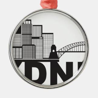 Ornamento De Metal Esboço do texto de Sydney Austrália Sklyine