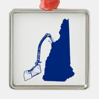 Ornamento De Metal Escalada do gelo de New Hampshire