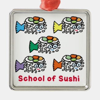 Ornamento De Metal Escola do sushi